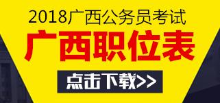 广西壮族自治区2018年度考试录用公务员职位计划表