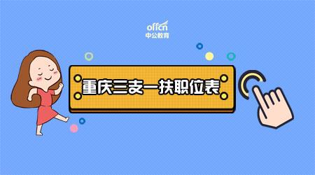 2020重庆三支一扶职位表