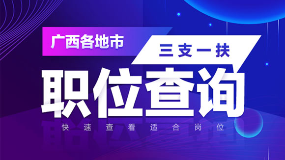 2020广西公务员三支一扶职位检索